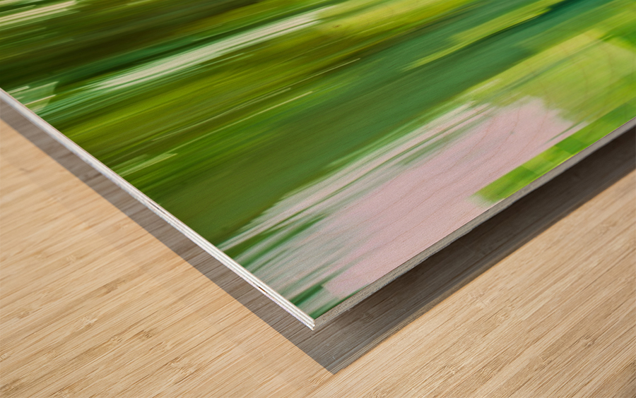 Moving Trees 12 Green Landscape 52-70 360px Impression sur bois
