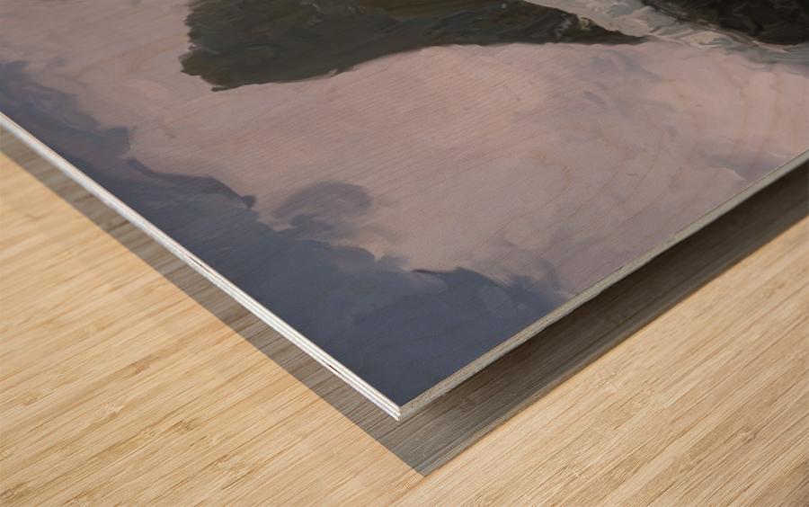 Athabaska Glacier Digital Painting 52 70 200px Wood print
