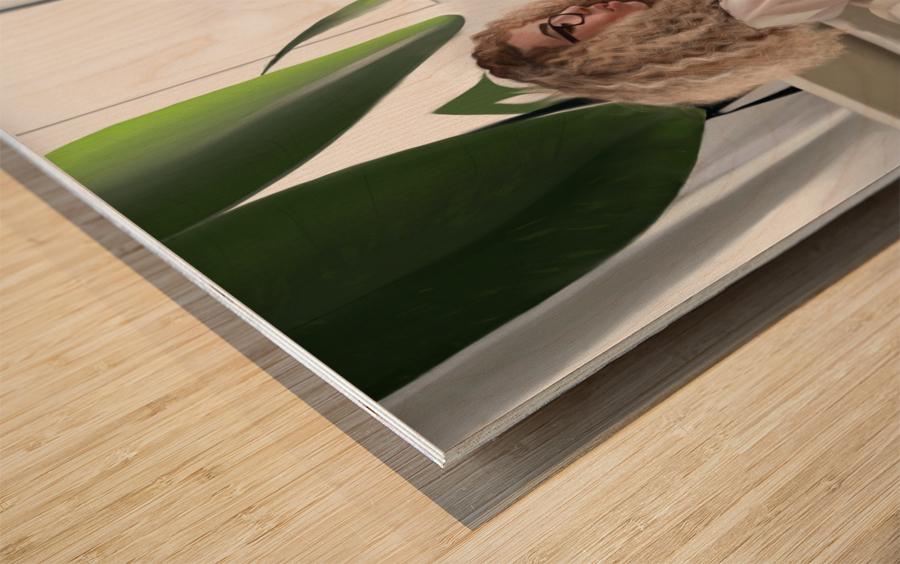 college dorm Wood print