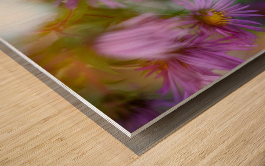 Fleur et ciel Wood print