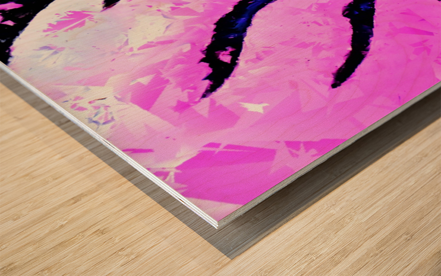 Pink Fingers - by Neil Gairn Adams Wood print