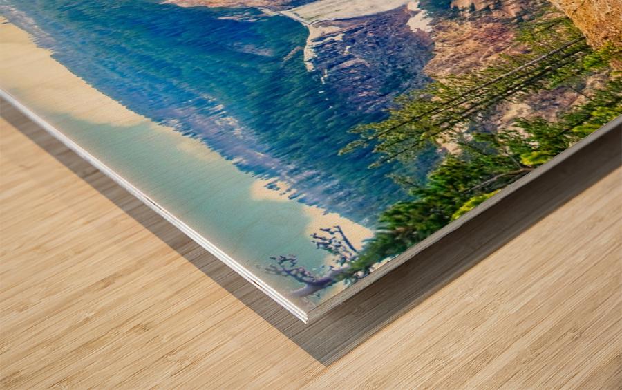 Yellowstone Falls Digital Painting Landscape 52 70 200px Wood print