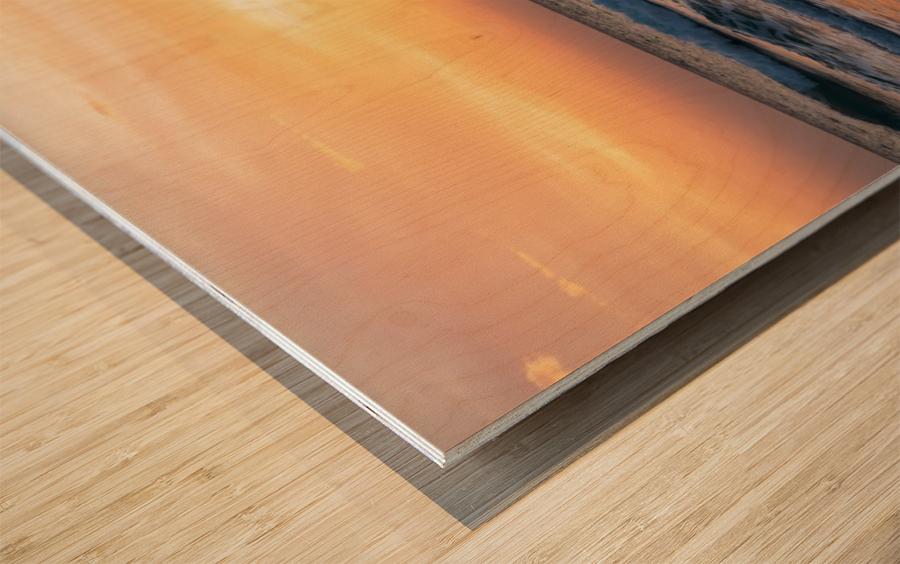 SUNSET AT EL PALMER Wood print