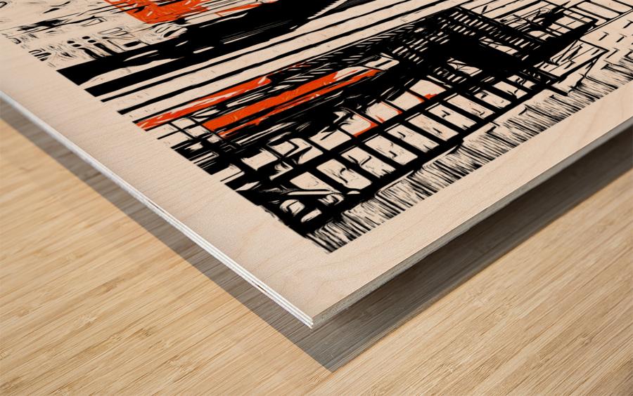 New York SoHo  Wood print