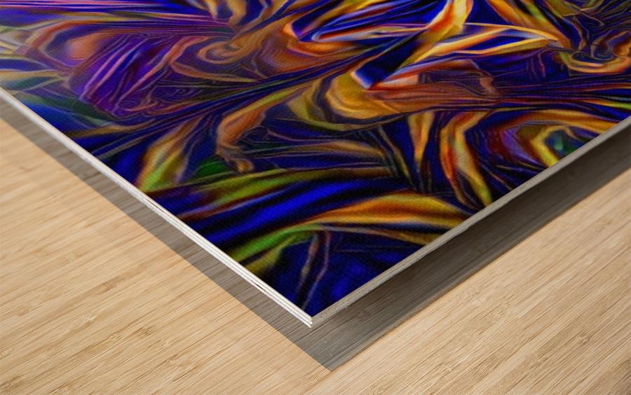 Abstract DNA Wood print