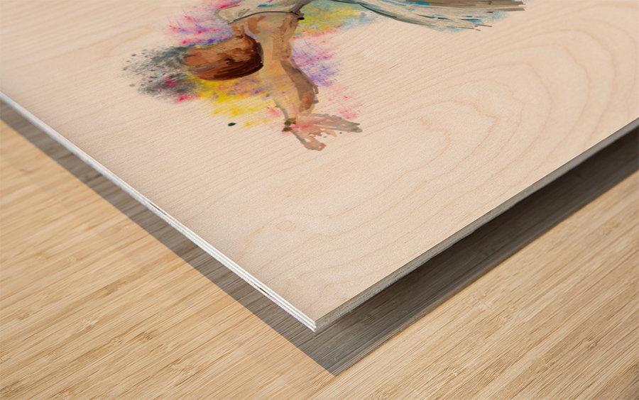 Ballet dancer painting art  Wood print