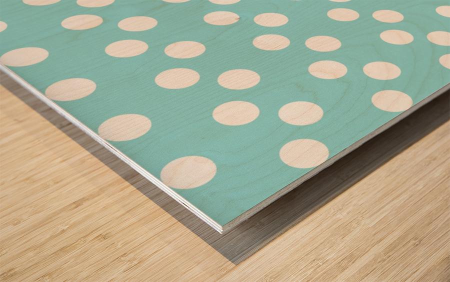Island Paradise Polka Dots Wood print