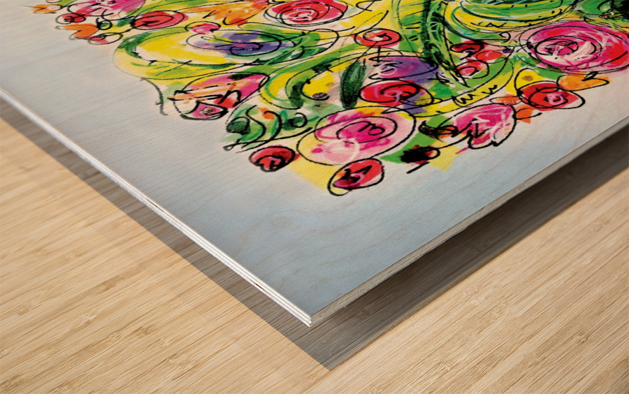 Floral Color Expression Wood print