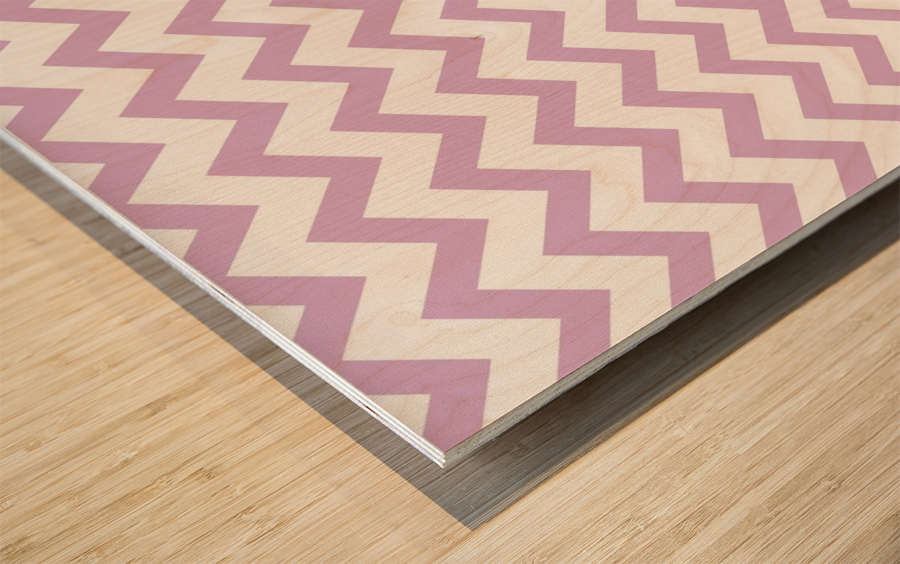 ORCHID CHEVRON Wood print