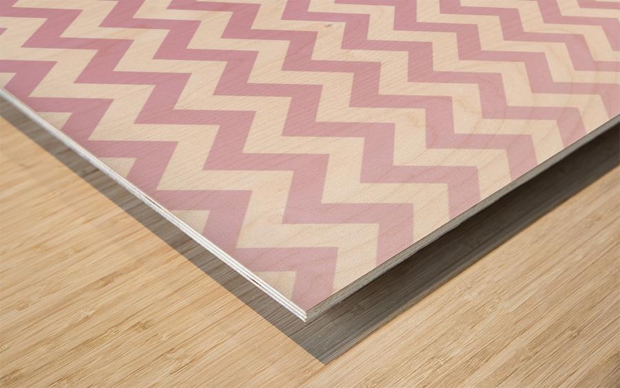 SPRING PINK CHEVRON Wood print