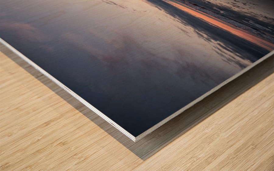 Ice flow Wood print