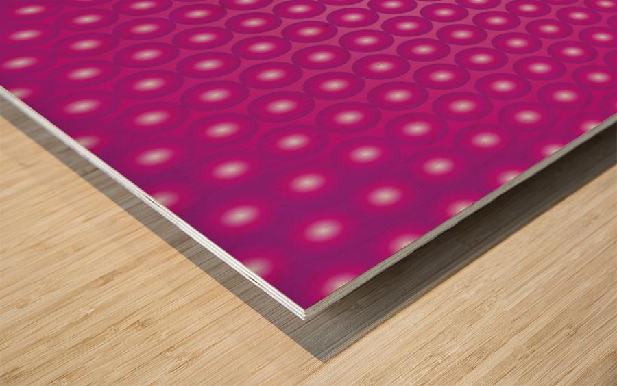 Magenta Pearl Pattern Wood print