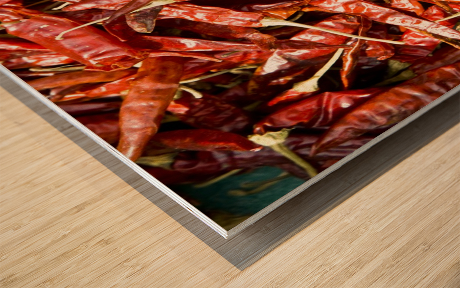 RED CHILLI PEPPERS Wood print