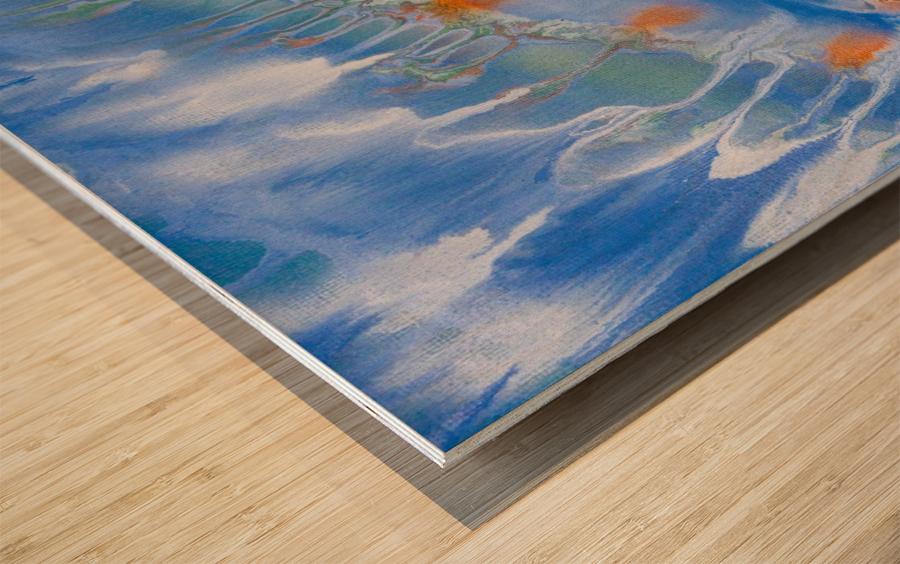 THE WAVES Wood print
