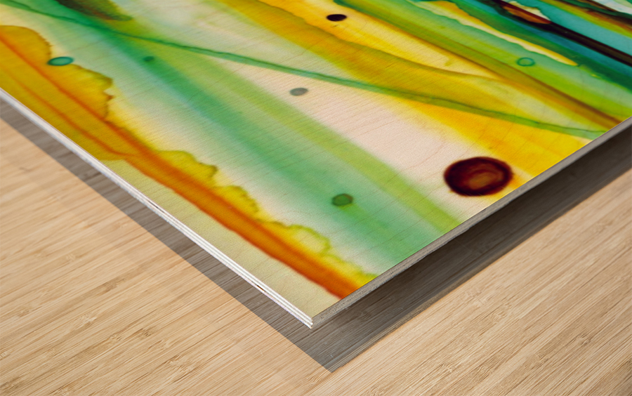 Hazy Rays Wood print