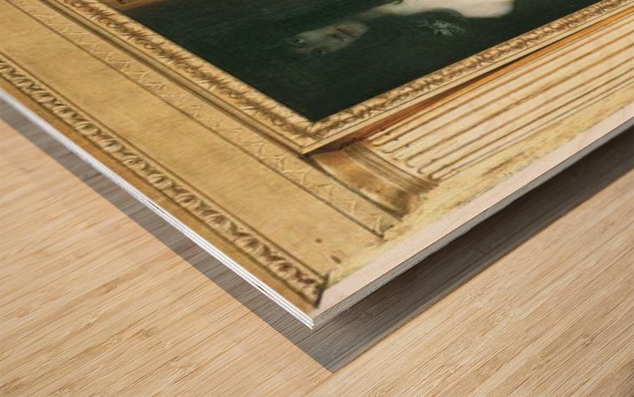 The sin by Franz von Stuck Wood print