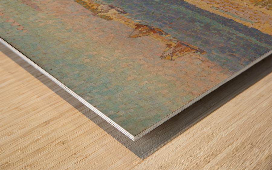 The Schelde near Veere Wood print