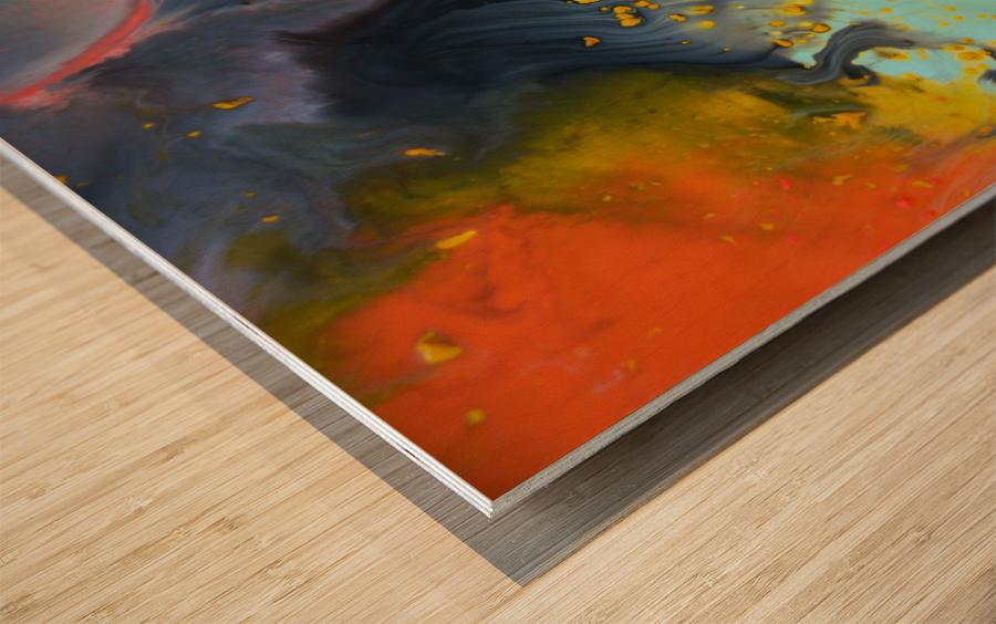 Liquid series 09 Wood print