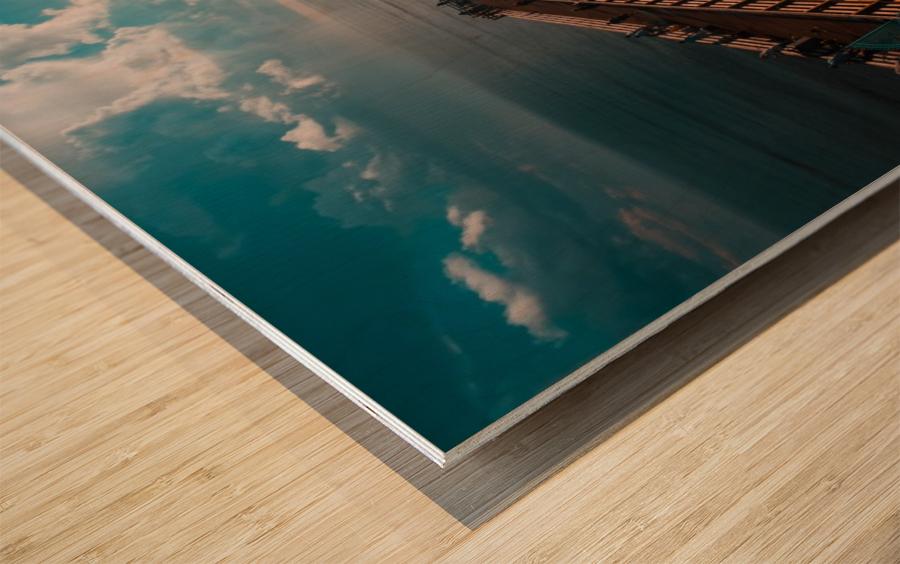 Blue majestic Wood print