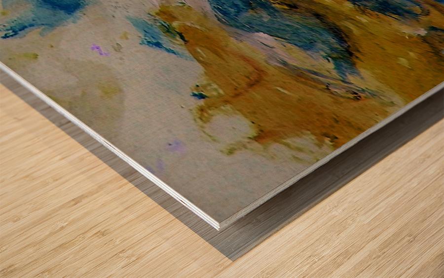 Amber River Wood print