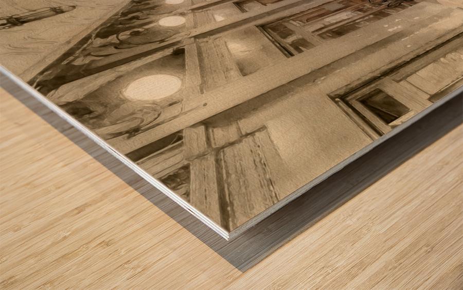Café Place Saint-Marc Venise Wood print