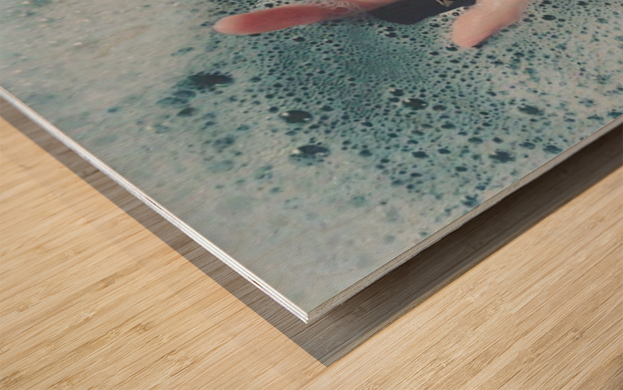Guide Me In Your Ocean Wood print