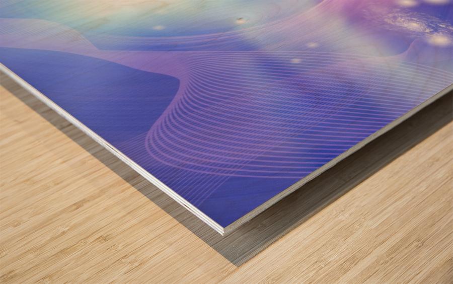 Galaxies Wood print
