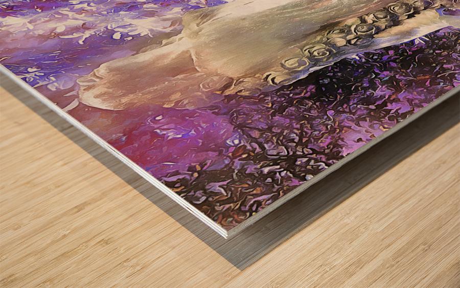 An Angel Awaits Wood print