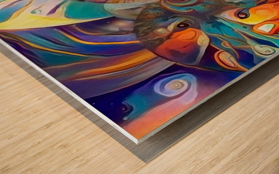 Vivid Illusion Wood print