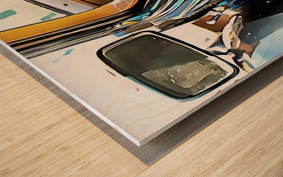 Fiat 508 Balila Through the Window Wood print