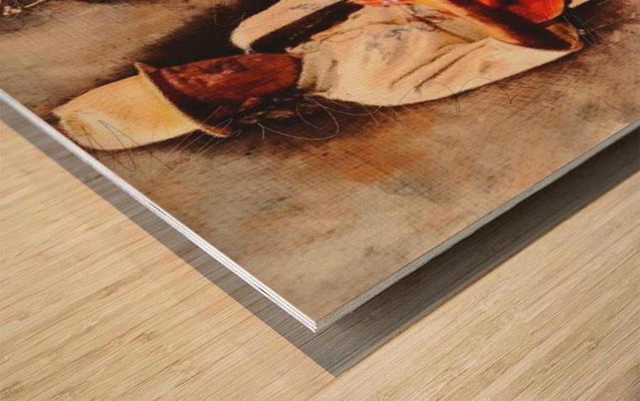 Carlos Santana Wood print