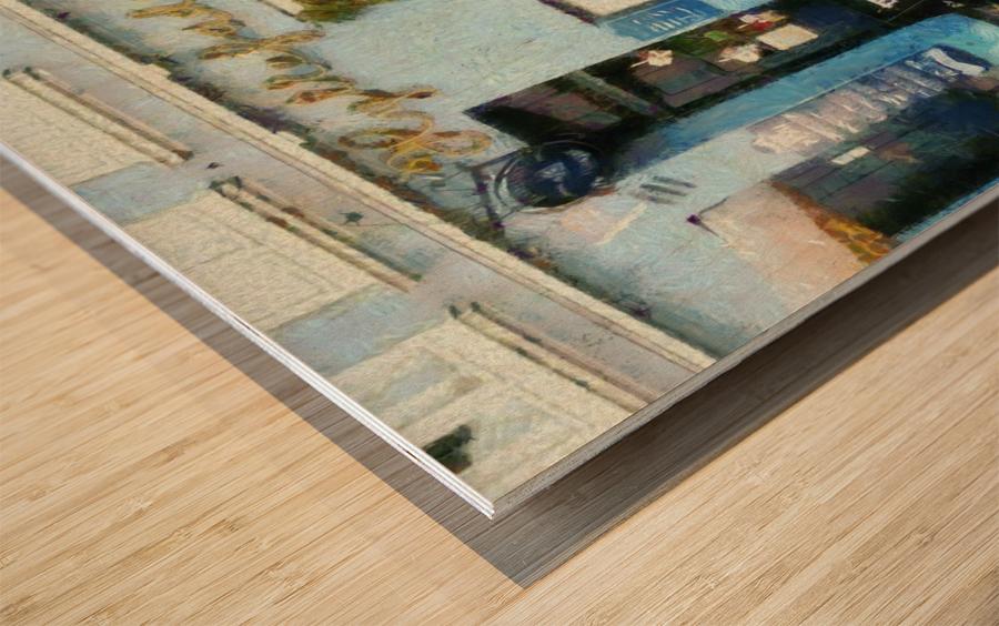 Blue Cafe Copenhagen Wood print