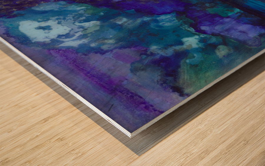 Lost in Purple Wood print