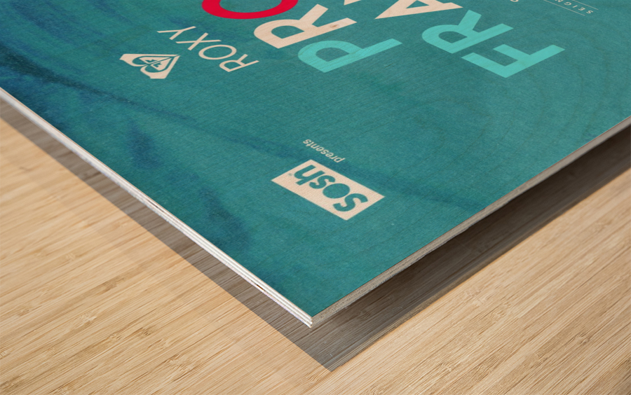 2014 ROXY PRO FRANCE Surfing Competition Poster Wood print