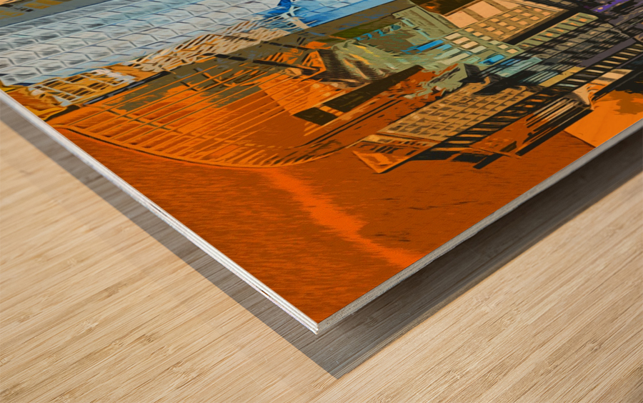 Montréal Wood print