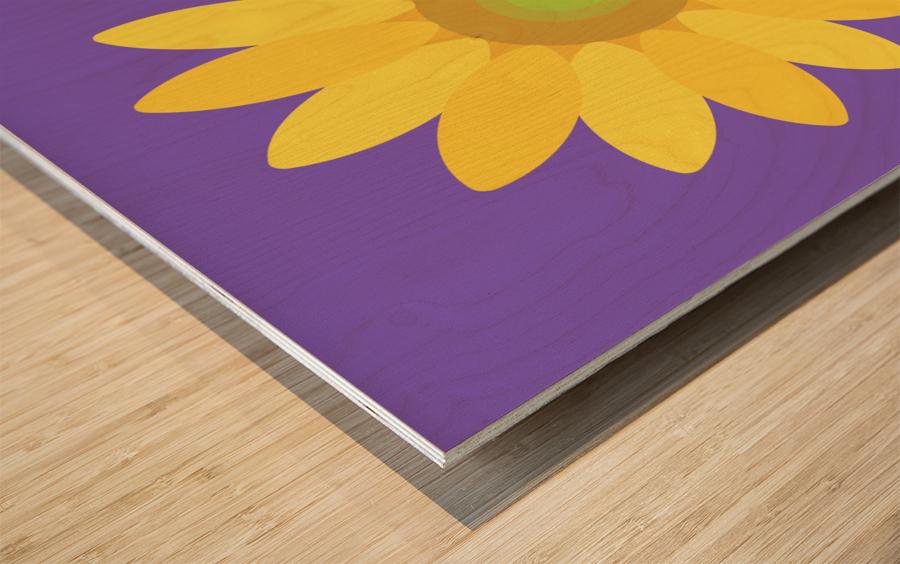 Sunflower (12) Wood print