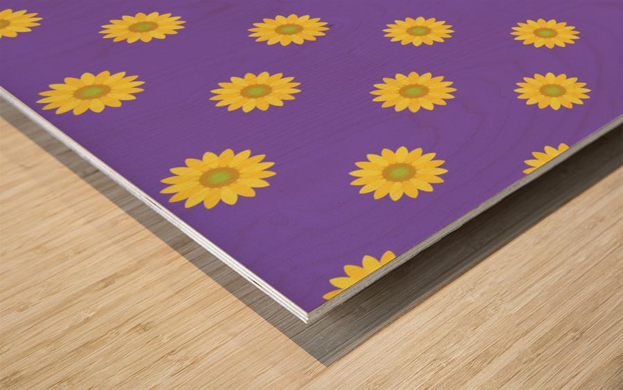 Sunflower (35) Wood print