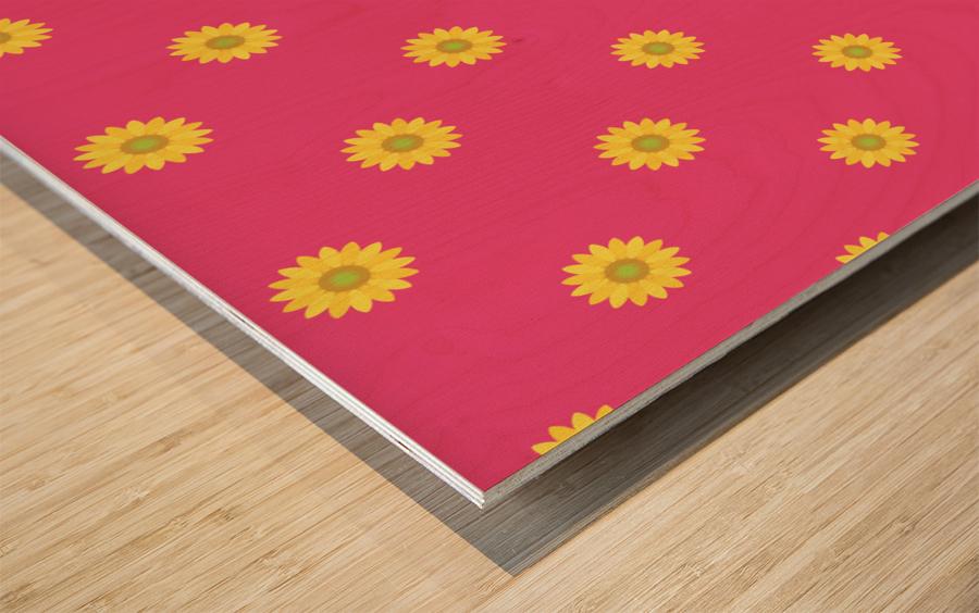 Sunflower (33) Wood print