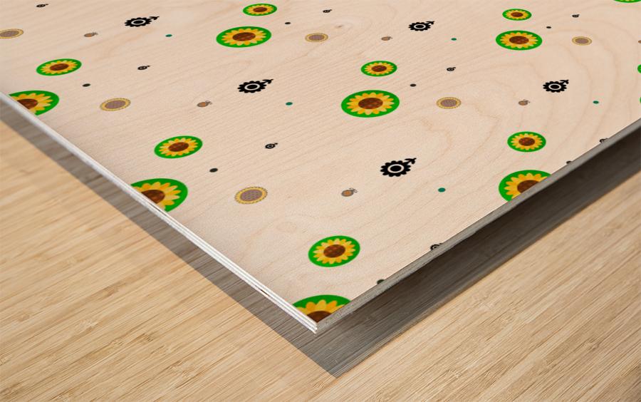 Sunflower (3) Wood print