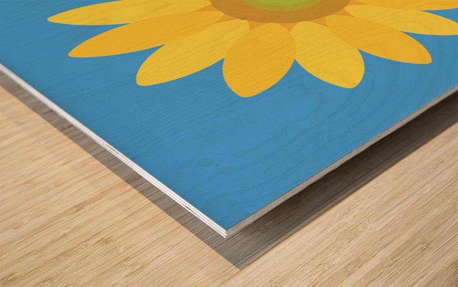 Sunflower (13) Wood print