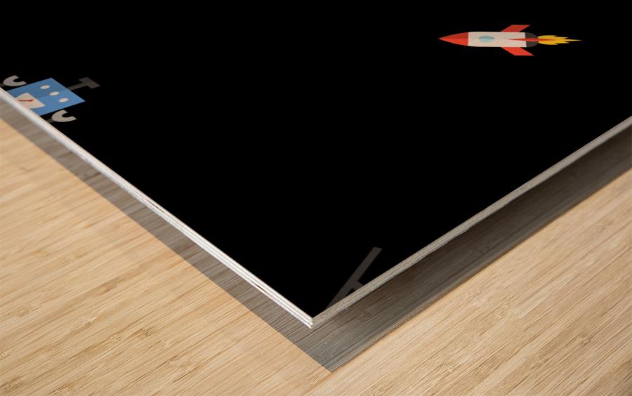 Space (20) Wood print