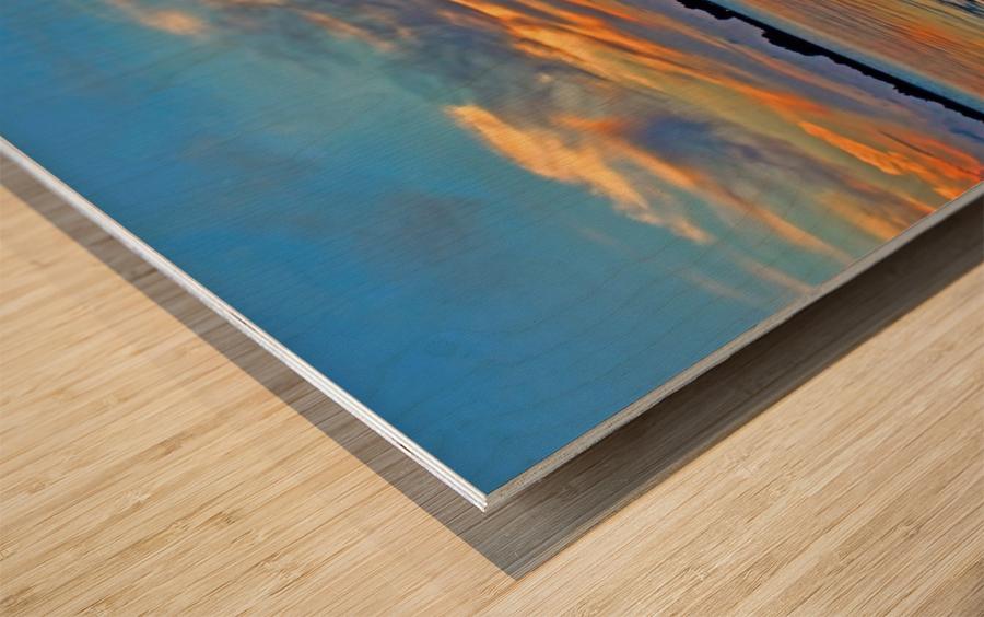 Tropical Sunset Wood print
