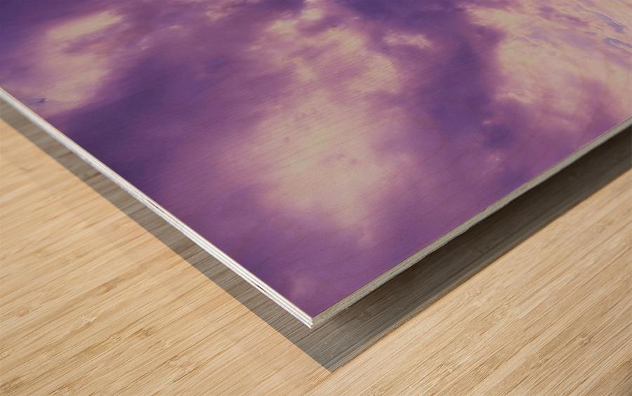 Purple skies Wood print