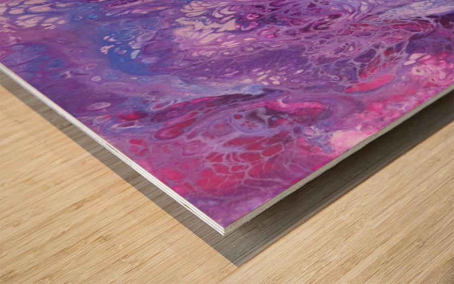 Purple sea of bliss Wood print