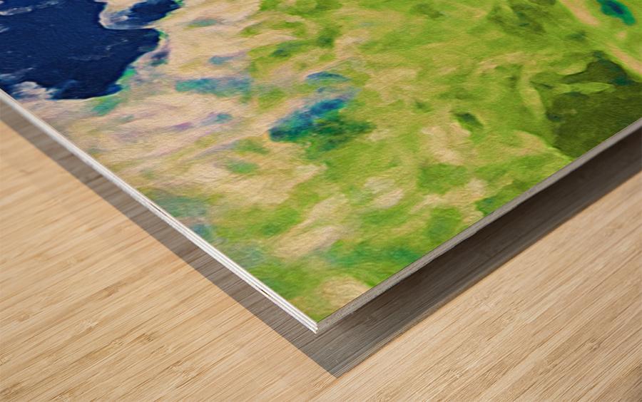 Sun & Surf Wood print