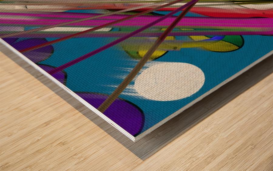 Happy Colors Wood print