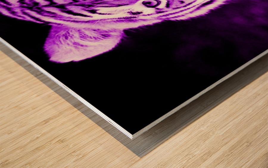 Tiger pop purple Wood print