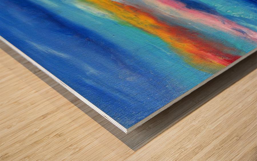 Floating Sky Wood print