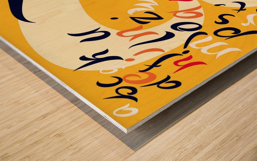 MAHAL Wood print