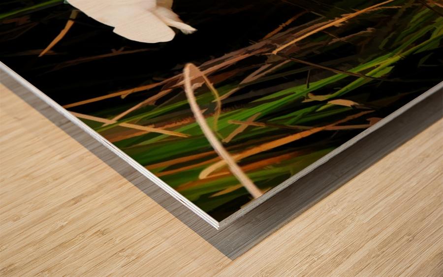 Fast as Lightning Wood print